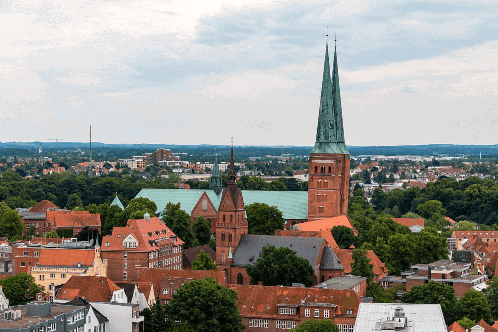 View from a top of St. Peter's Church in Lübeck