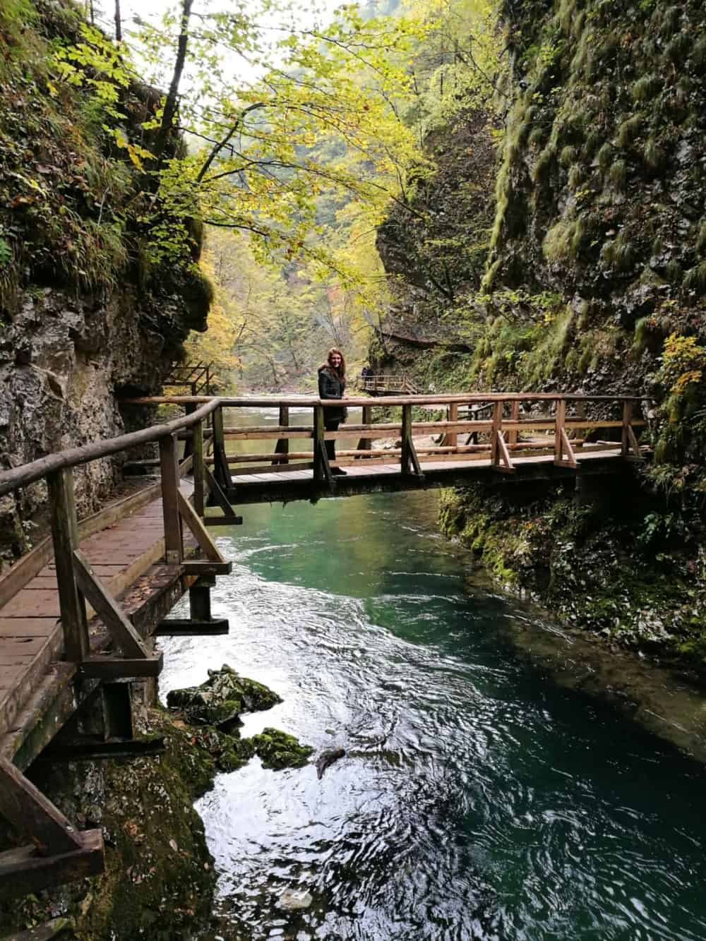Vintgar Gorge near Lake Bled in the Trigalv National Park, one of the best places to visit in Slovenia