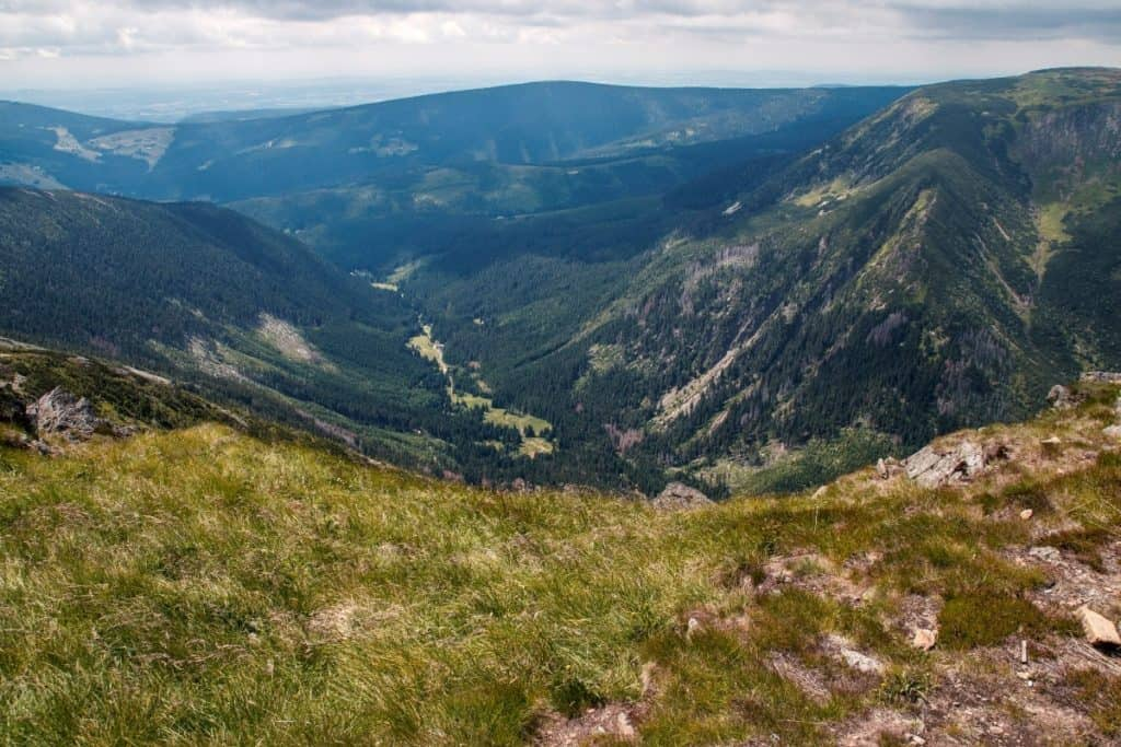 View from Snow Mountain in the Czech Republic