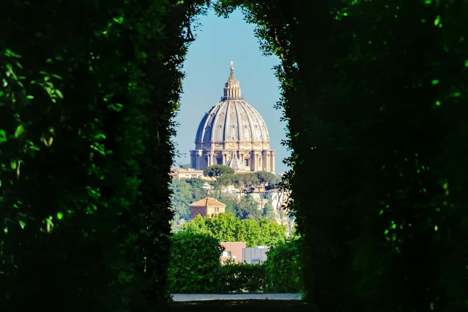 The Aventine Keyhole in Rome