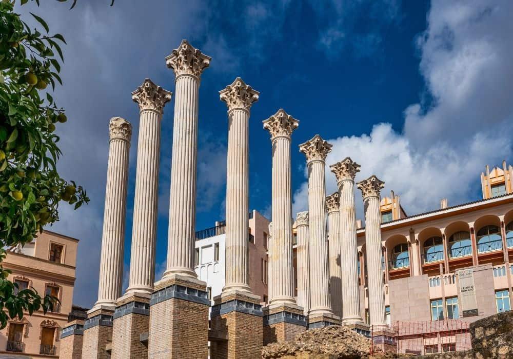 Templo Romano in Cordoba, Spain