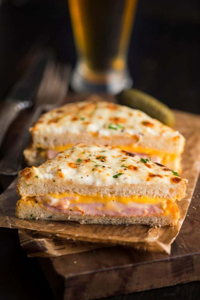 Croque-Monsieur. French Ham and Cheese Toast